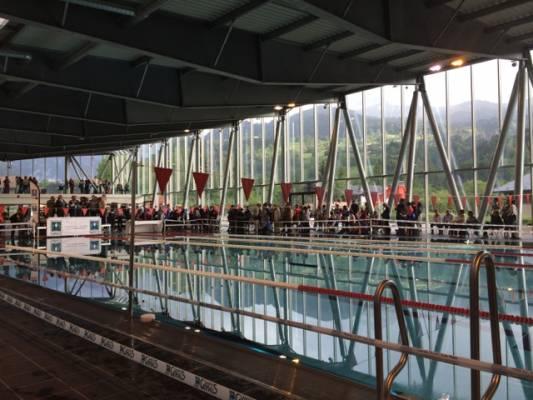 ouverture de la nouvelle piscine de saint gervais les bains