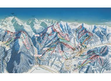 Plan des pistes de Saint-Gervais / Source : Saint-Gervais.net, site de l'office de Tourisme